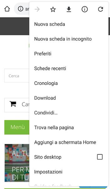 Aggiungi a schermata Home