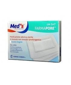 Med's - FarmaPore - medicazione autoadesiva sterile con cerotto - 5x7cm (50pz)