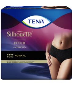 TENA - Silhouette - Normal Noir Vita Bassa - Mutandine assorbenti femminili