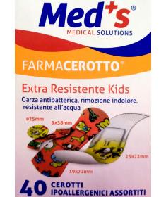 Med's - FarmaCerotto - Extra resistente Kids cerotto strip polietilene assortiti (40 pezzi)
