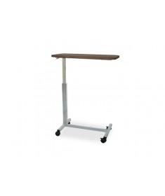 Praxis - Tavolino da letto su ruote ad altezza regolabile e piano fisso laminato legno