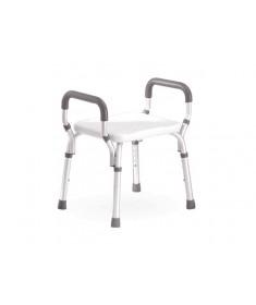 Praxis - Sedia per doccia con braccioli regolabile in altezza