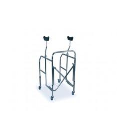 Praxis - Deambulatore pieghevole con supporti ascellari regolabile in altezza