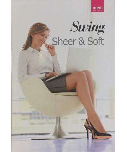 Medi - Swing Sheer & Soft - Calze a compressione graduata 70 denari 14 mmHg - Autoreggente
