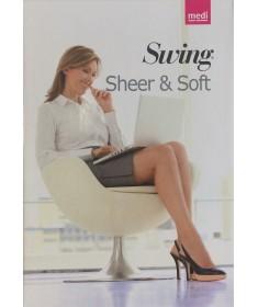 Medi - Swing Sheer & Soft - Calze a compressione graduata 140 denari 18 mmHg - Autoreggente