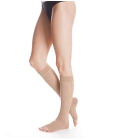 Medi - Cotton Maxis - Calze compressive medicali in cotone classe di compressione 1, punta aperta - AD Gambaletto (Paio)